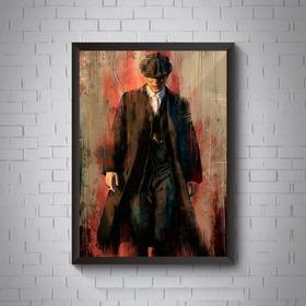 Quadro Peaky Blinders Arte Tommy Shelby Moldura 42x29cm