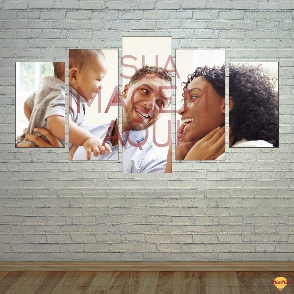 2198b708e Quadro Personalizado 5 Telas Canvas Com Foto Grande - R$ 219,00 em ...