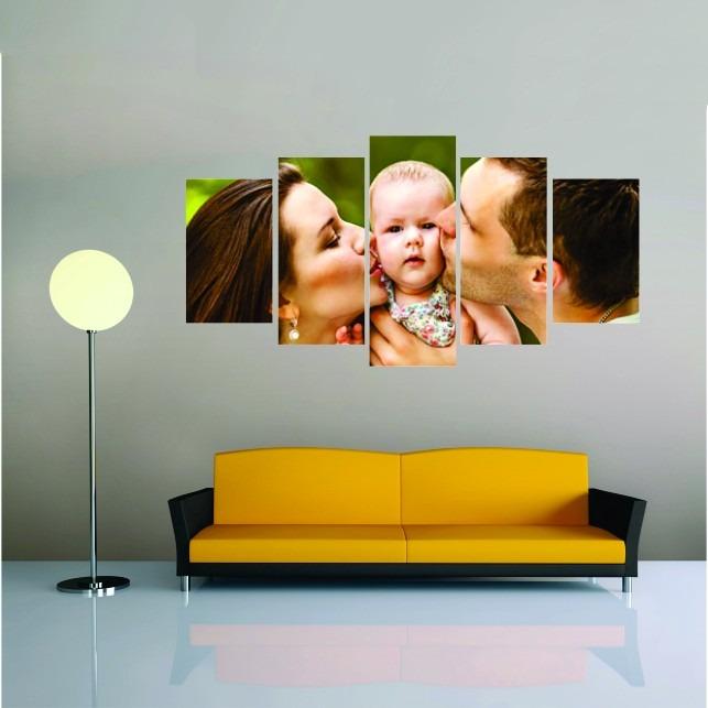 5d7c3c438 Quadro Personalizado 5 Telas Canvas Com Foto Grande - R$ 259,00 em Mercado  Livre