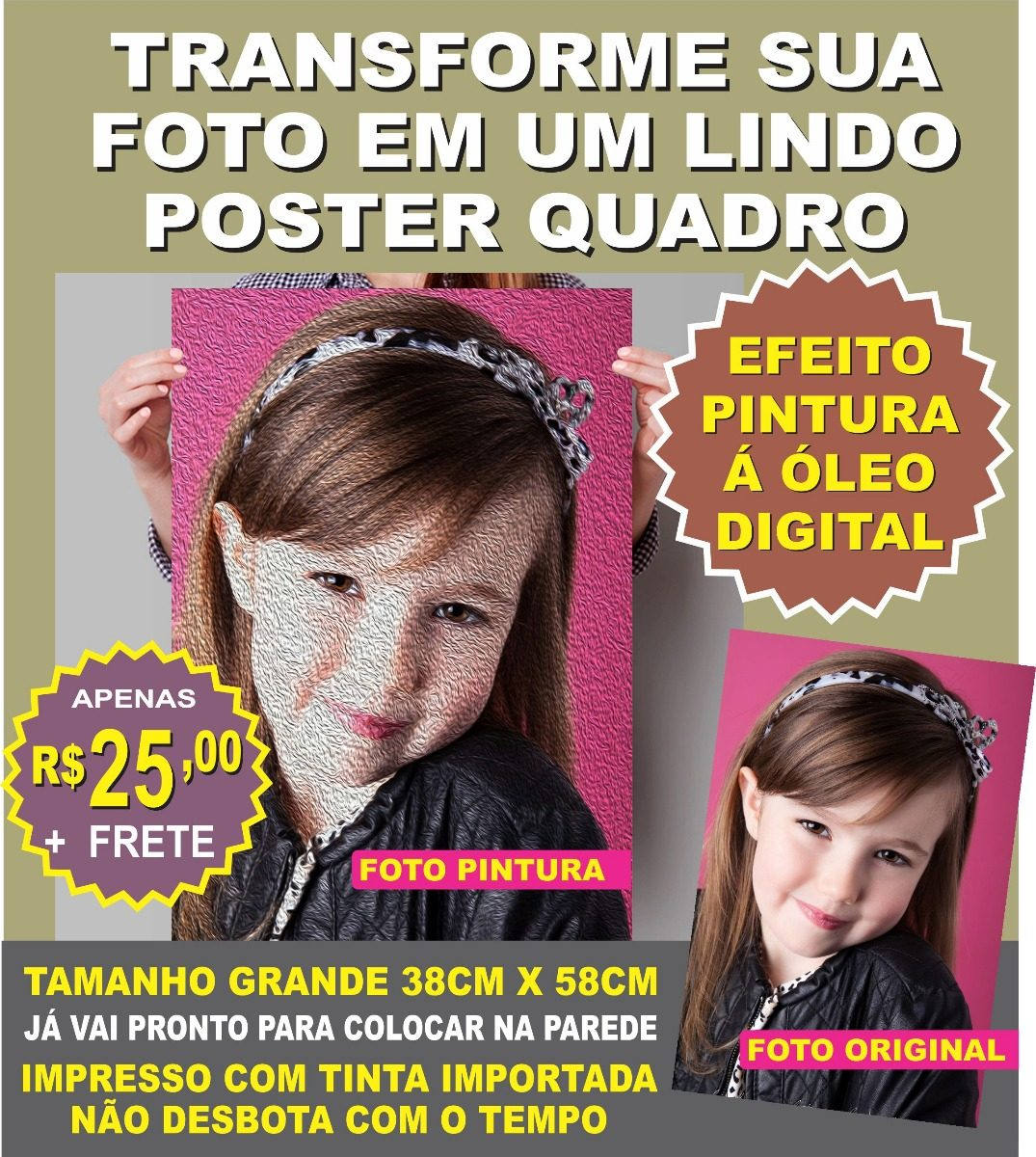 Quadro Personalizado Com Sua Foto Decora O Quarto Sala Bebe R  ~ Quarto De Bebe Parede Com Poster Decoração Quarto