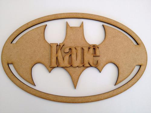 quadro personalizado do batman em mdf.