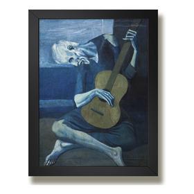 Quadro Picasso Velho Guitarrista Decor Sala Poster Moldura