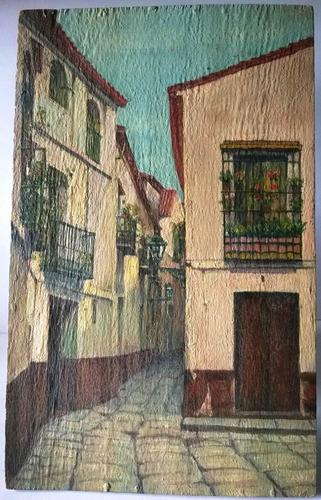 quadro pintado na madeira nº 438