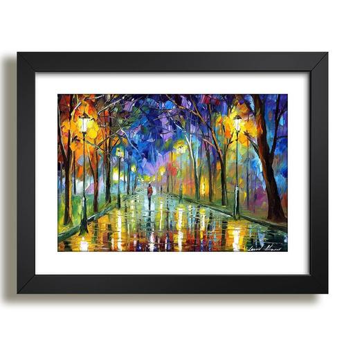 quadro pintores famosos afremov arte decoracao moldura r7