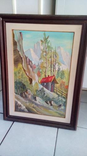 quadro pintura paisagem