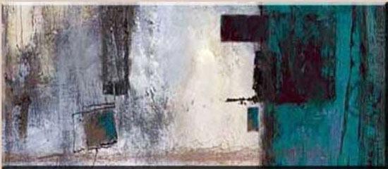 Quadro pintura tela abstrato azul turquesa cinza 80x180 cm - Pintura azul turquesa ...