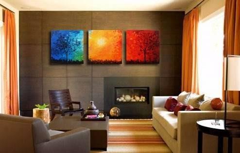quadro pintura tela abstrato paisagem