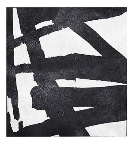 quadro pintura tela abstrato preto branco 1,5 x 1,6 metro