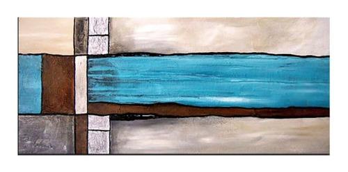 quadro pintura tela abstrato turquesa 80 cm x 1,80 metro