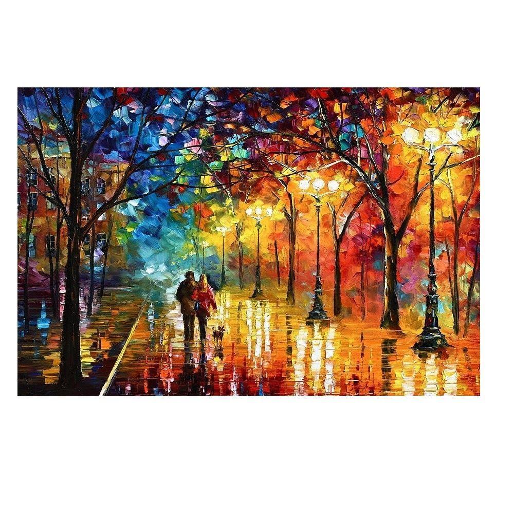 Quadro Pintura Tela Paris Moderno 70x180cm Duas Criancas R 900
