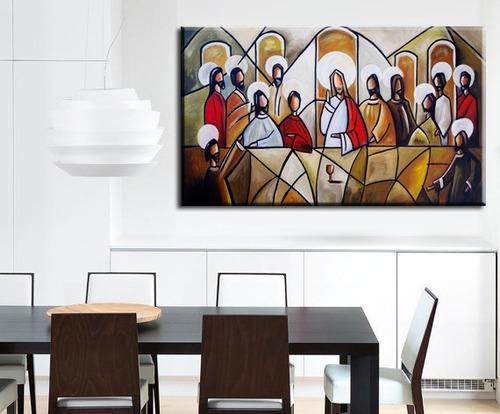 quadro pintura tela santa ceia