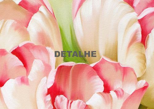 quadro pintura tela tulipas brancas