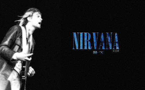 quadro placa decoração rock banda nirvana tamanho grande