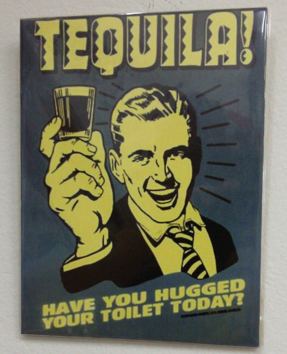 Quadro Placa Madeira Frases De Bar Anos 50 60 70 Tequila