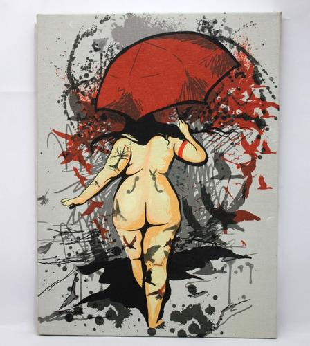 quadro plus size de rlucenas em tela de pintura 30x40cm