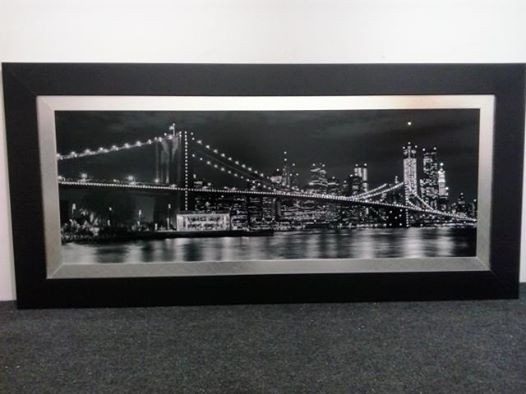 Quadro ponte new york manhattan c cristais strass swarovski r