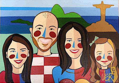 quadro pop art personalizado - 4 figuras