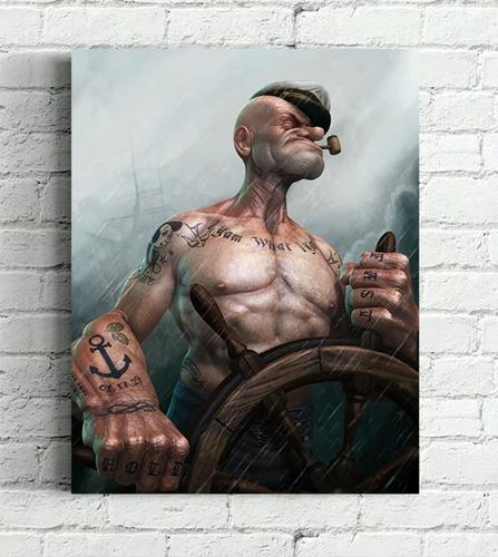 quadro popeye impressão em canvas