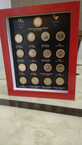 quadro porta 17 moedas olimpíadas