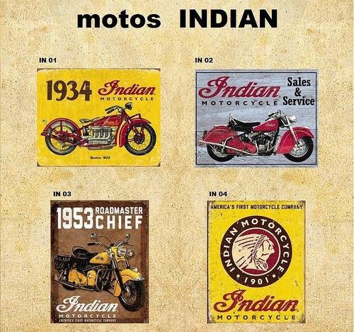 quadro porta chave decoração harley jeep cerveja indian retr