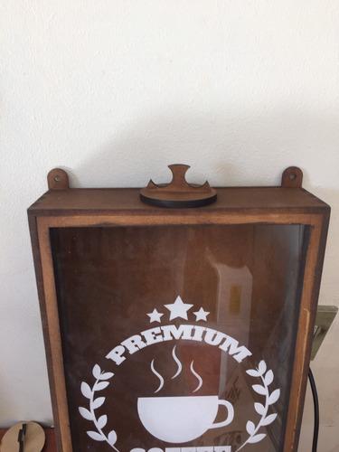 quadro porta grãos de café