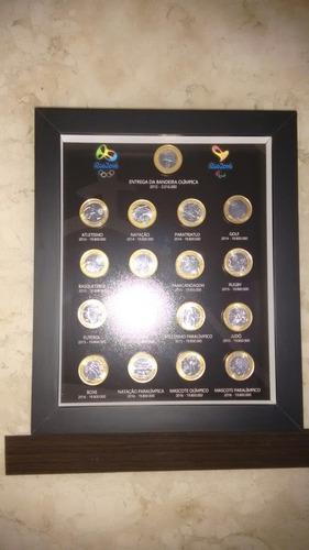 quadro porta moedas  olimpíadas .pronta entrega