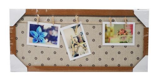 quadro porta retrato com prendedor mural fotos memory board