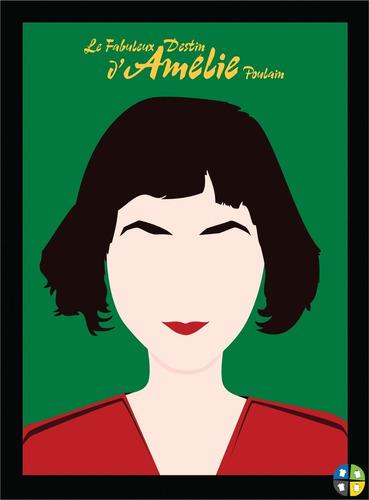 quadro poster amelie poulain cinema cult com moldura a3