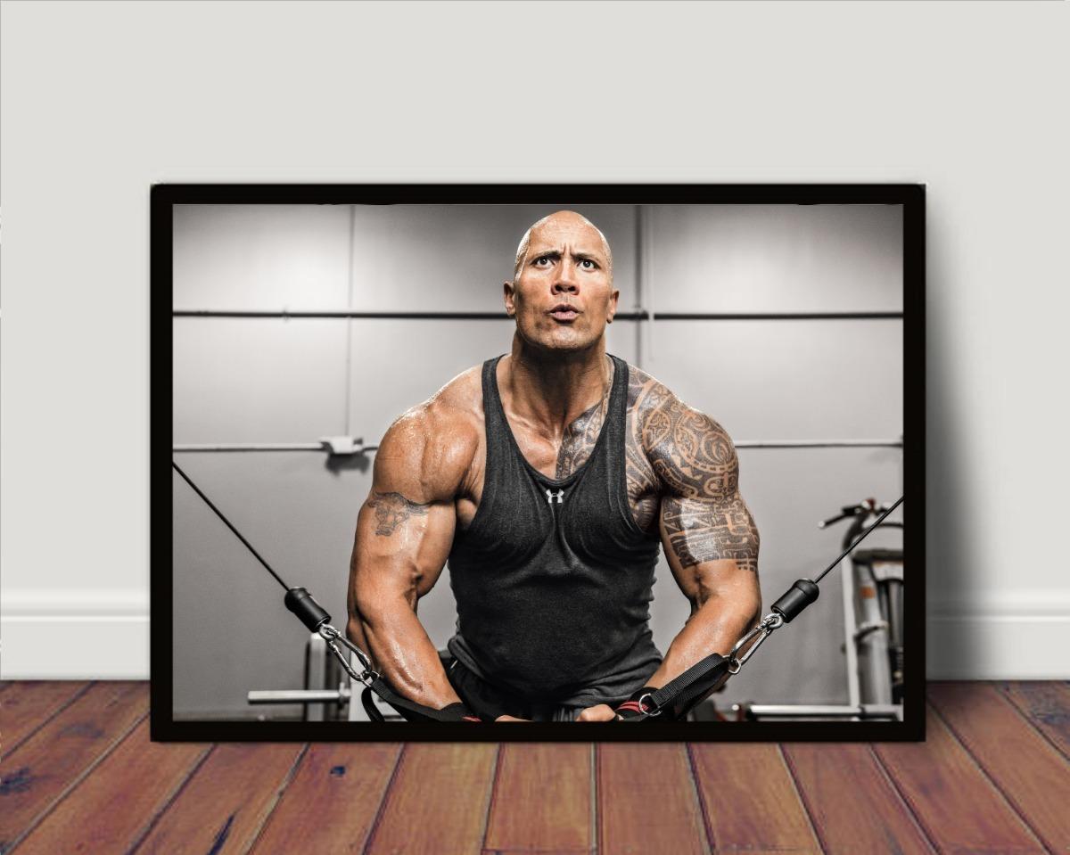 Quadro Poster C Moldura Motivacional The Rock P4036