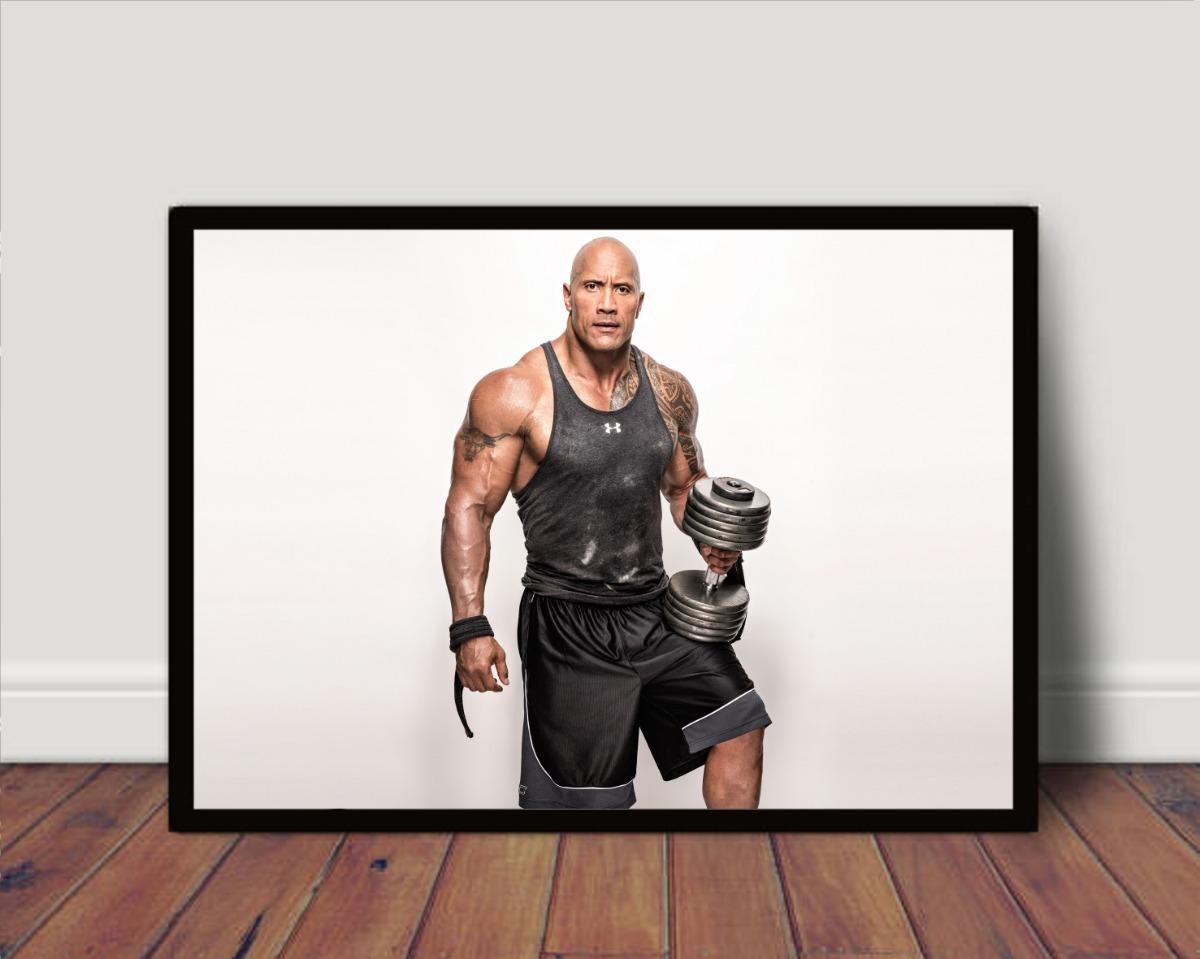 Quadro Poster C Moldura Motivacional The Rock P4037
