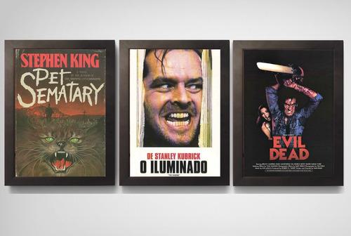 quadro poster c.moldura filmes do cine trash e terror anos80