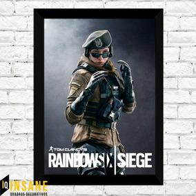 Quadro Poster Zofia Rainbow Six Siege Com Moldura E Vidro