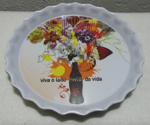 quadro prato decorativo baquelite redondo coleção coca cola