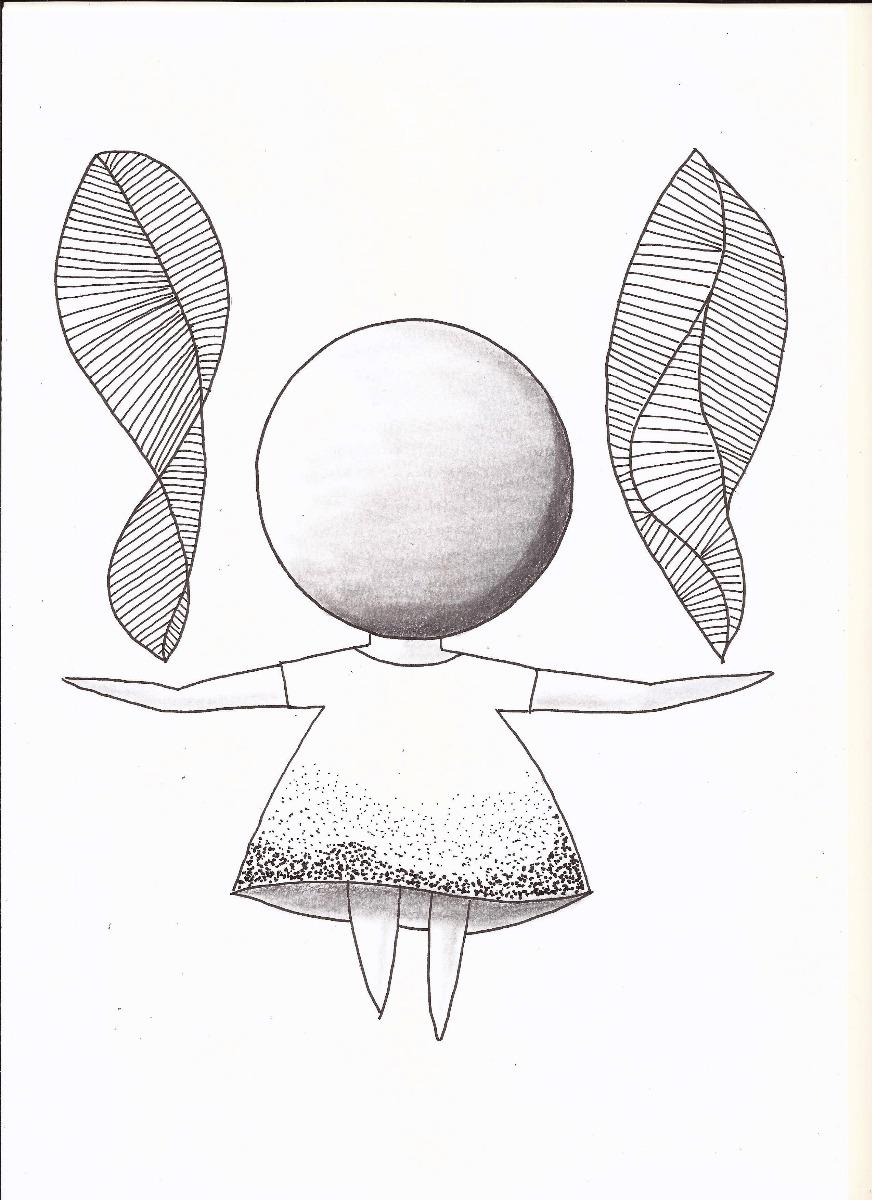 Quadro Preto E Branco Feito A Mao Desenho Menina Energia R 25