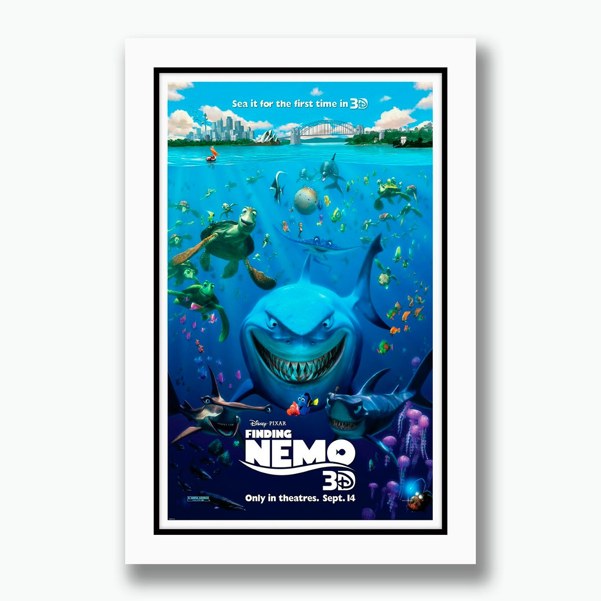Quadro Procurando Nemo 40x60cm Filme Disney Cinema Tv Decor