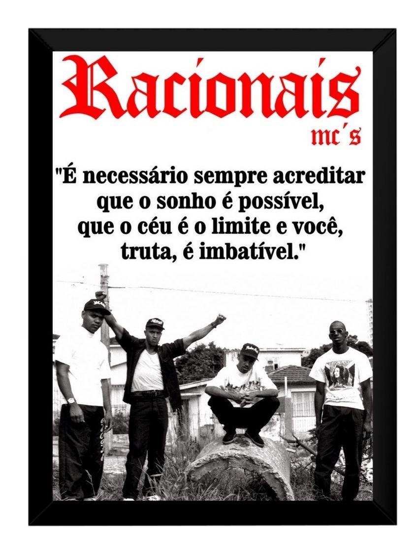 Quadro Racionais Mcs Frase A Vida é Um Desafio Rap Nacional