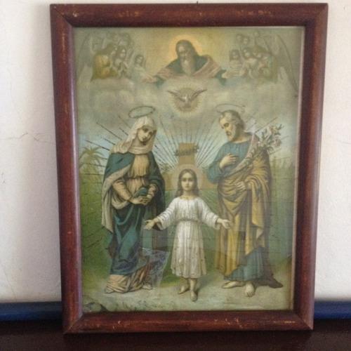 quadro raro da sagrada familia de 1943  casa futurista de sp