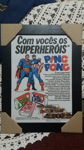 quadro retrô - propaganda chiclete ping pong 3