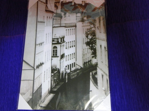 quadro rua estreita preto branco 36x25cm mediterraneo