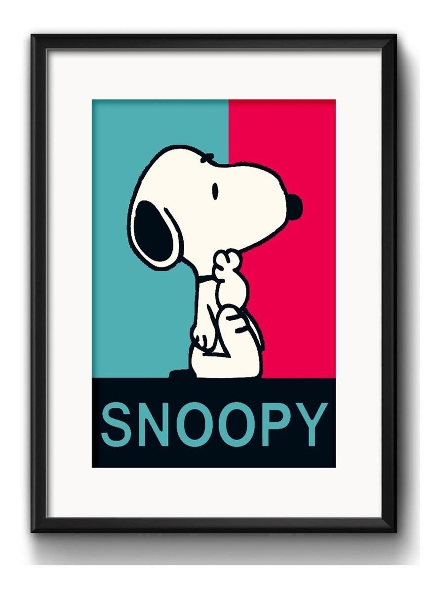 Quadro Snoopy Pop Art Desenho Retro Arte Decoracao Paspatur R