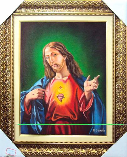 quadro são francisco água 45x85cm pintura oleo frete gratis