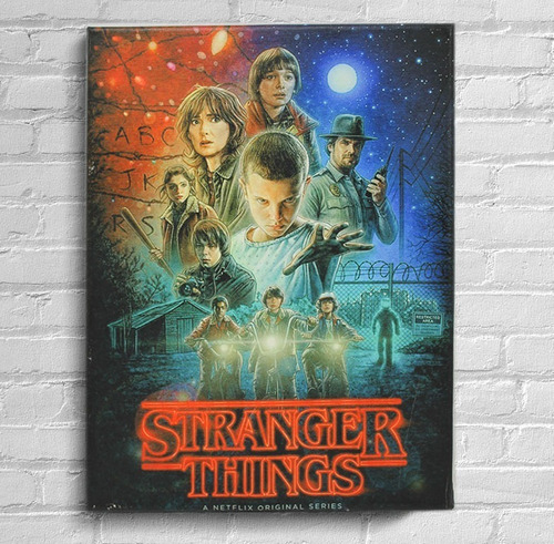 quadro stranger things t1 impressão em tela de pintura 30x40cm