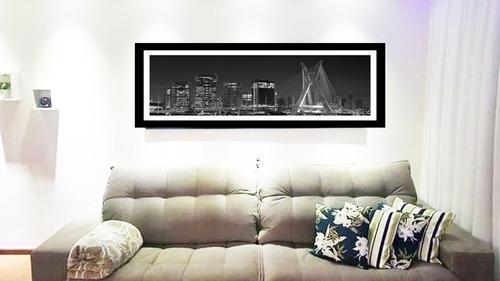 quadro strass cristais são paulo ponte estaiada 1,20 x 50
