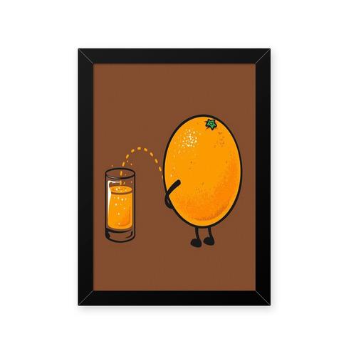 quadro suco de laranja 23x33cm