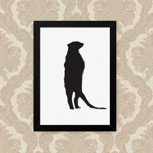 quadro suricate 23x33cm