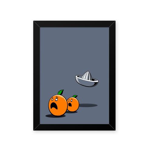 quadro tangerinas 23x33cm