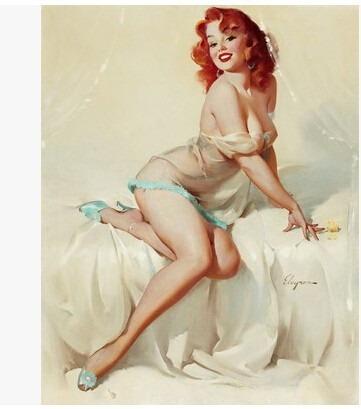 quadro tela giclée canvas mulher pin up  40x50cm sem moldura