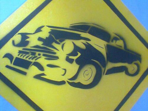 quadro tela placa pintura pickup chevrolet ford mede 25x25cm