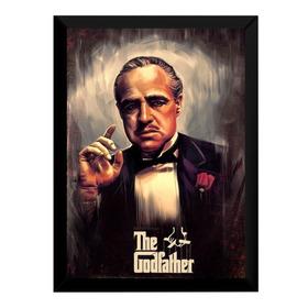 Quadro The Godfather O Poderoso Chefão Arte Poster Moldurado