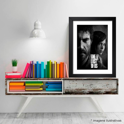 quadro the last of us game jogos joel ps4 decorativo sala